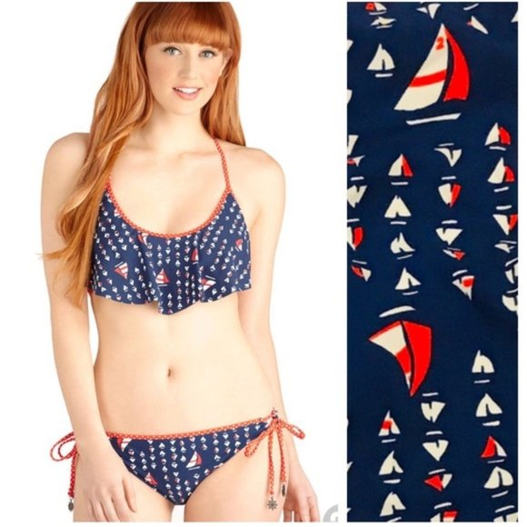 Sperry Other - Sperry Sailboat tie bikini bottom(only) L
